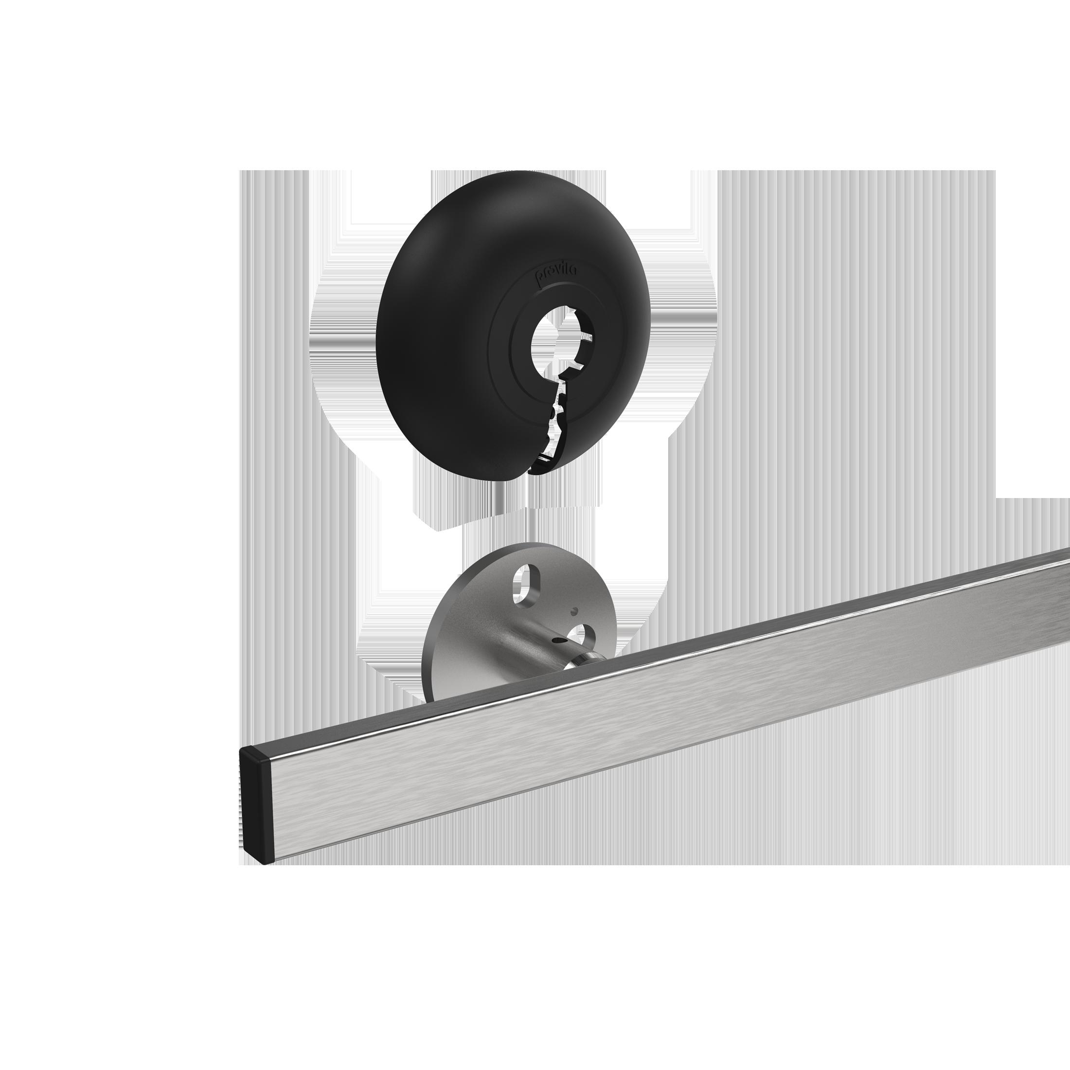 Wandschiene (Geräteschiene) mit Clip-Abdeckung